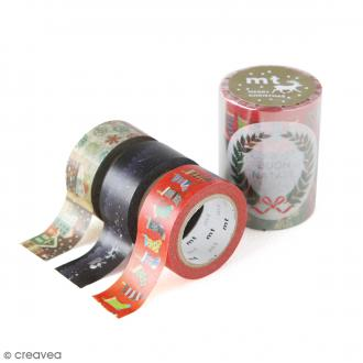 Masking Tape - Assortiment Noël Traditionnel - 20 mm x 7 m
