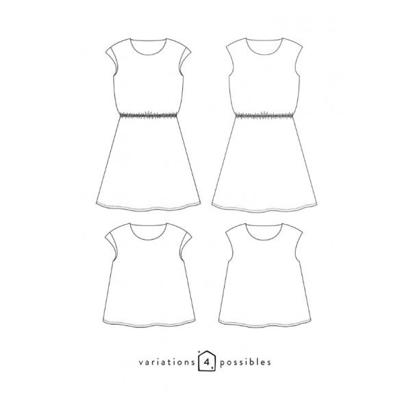 Patron Femme - Robe ou Blouse Tokyo - Atelier Scämmit - Photo n°2