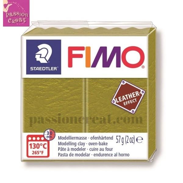 Fimo Effet Cuir Olive 57 Grammes n°519 - Photo n°1