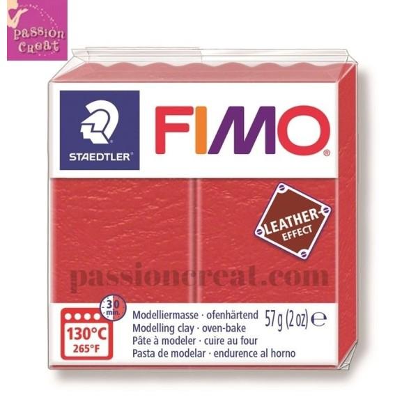 Fimo Effet Cuir Rouge 57 Grammes n°249 - Photo n°1