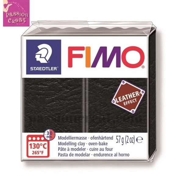 Fimo Effet Cuir Noir 57 Grammes n°909 - Photo n°1