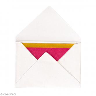 Mini enveloppes et cartes Hot Foil Blanc - 4,5 x 3 cm - 10 pcs