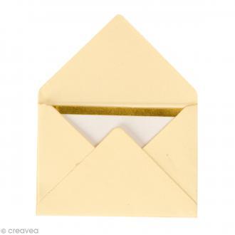 Mini enveloppes et cartes Hot Foil Ivoire - 4,5 x 3 cm - 10 pcs
