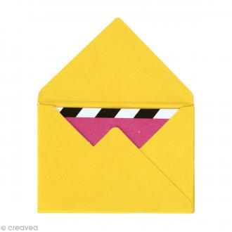 Mini enveloppes et cartes Jaune - 4,5 x 3 cm - 10 pcs