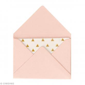 Mini enveloppes et cartes Hot Foil Rose - 4,5 x 3 cm - 10 pcs