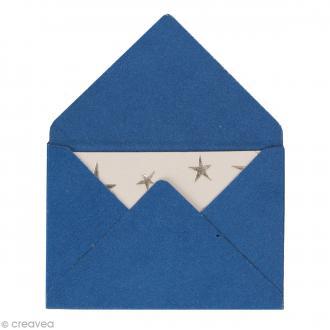 Mini enveloppes et cartes Hot Foil Bleu - 4,5 x 3 cm - 10 pcs