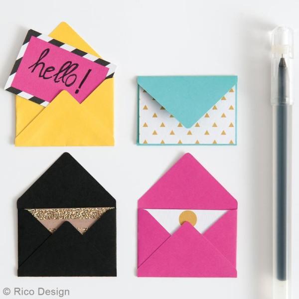 Mini enveloppes et cartes Noir - 4,5 x 3 cm - 10 pcs - Photo n°2