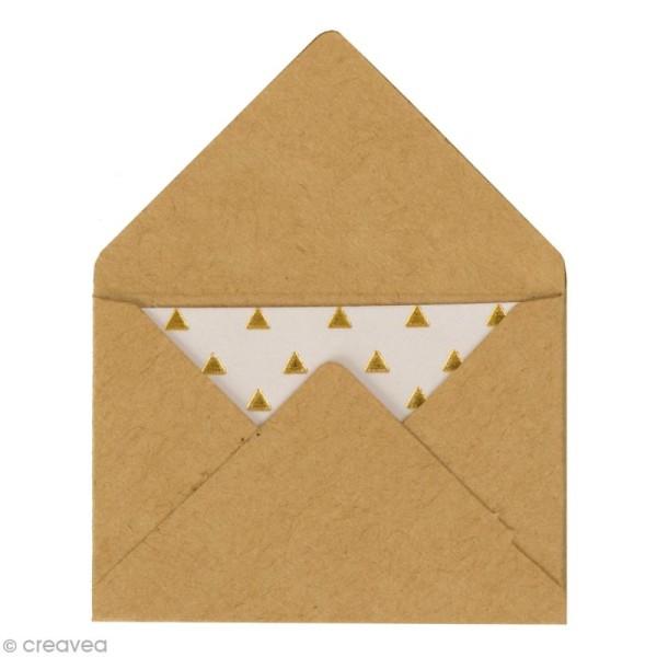 Mini enveloppes et cartes Hot Foil Marron kraft - 4,5 x 3 cm - 10 pcs - Photo n°1