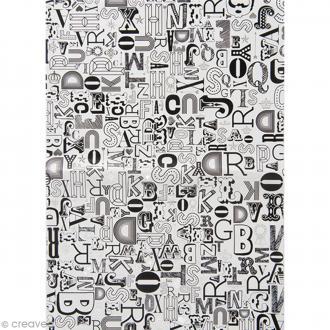 Papier Paper patch Hot Foil Lettre - Argenté - 30 x 40 cm