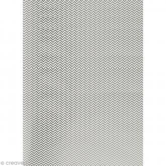 Papier Paper patch Hot Foil Zig Zag - Argenté - 30 x 40 cm