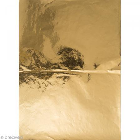 Papier Paper patch Hot Foil Uni - Doré - 30 x 40 cm - Photo n°1