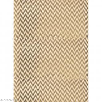 Papier Paper patch Hot Foil Zig Zag - Doré - 30 x 40 cm