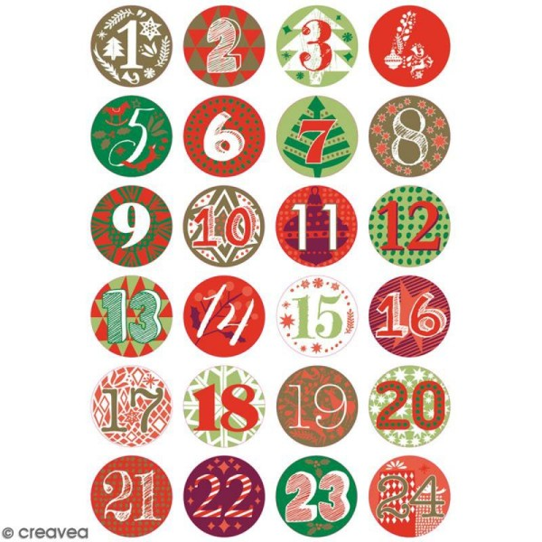 Calendrier De Lavent Cm.Pins Badge Calendrier De L Avent 2 5 Cm 24 Pcs
