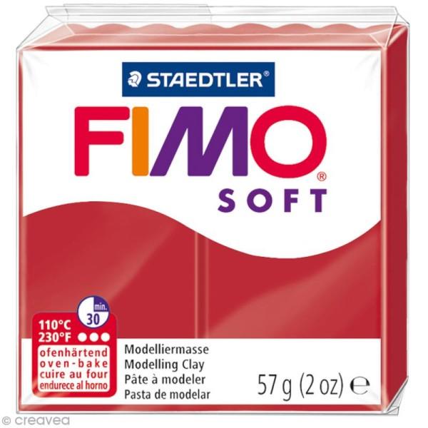 Pâte Fimo soft Rouge Noël 8020-2 P - 57 g - Photo n°1