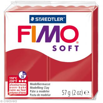 Pâte Fimo soft Rouge Noël 8020-2 P - 57 g