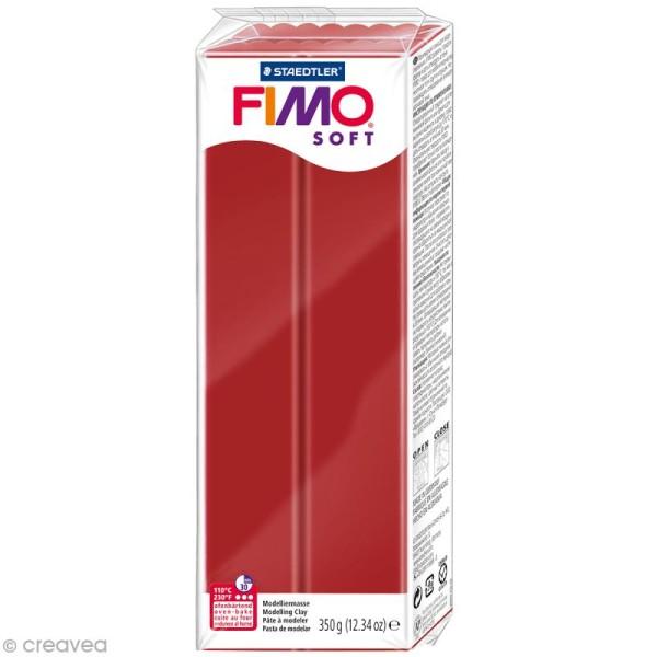 Pâte Fimo soft Rouge Noël 8020-2 P - 350 g - Photo n°1