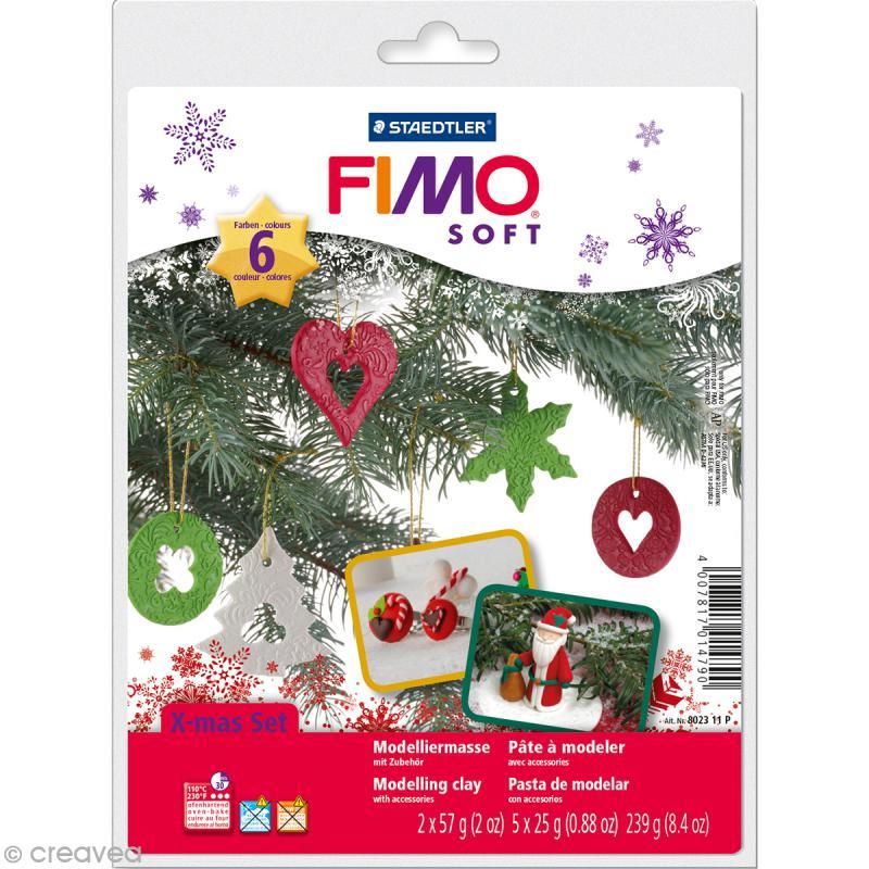 Coffret Modelage - Fimo soft - Noël - Photo n°1