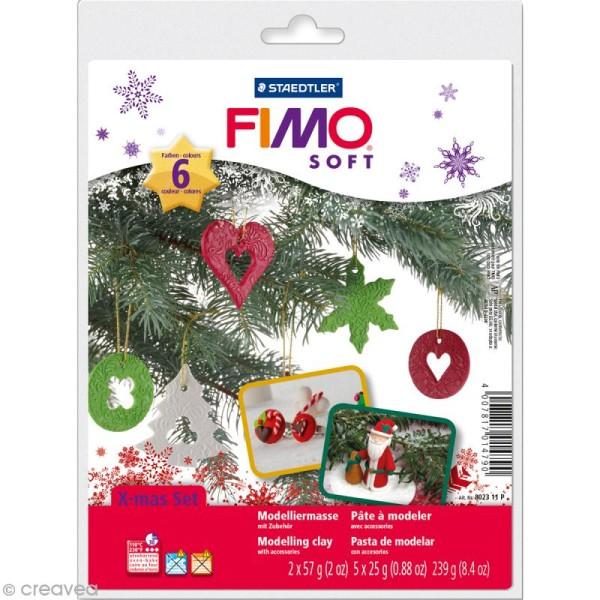 Coffret Modelage - pâte Fimo soft - Noël - Photo n°1