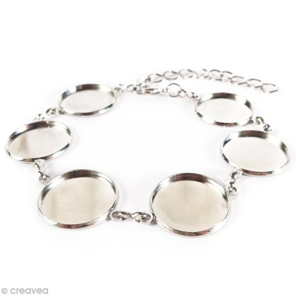 Bracelet Rond à décorer - Argenté - 28 cm - Photo n°2