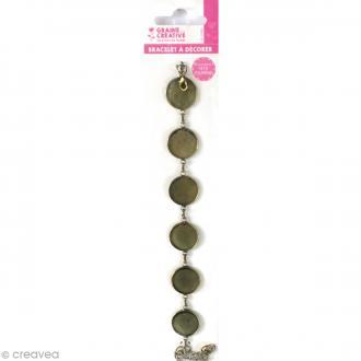Bracelet Rond à décorer - Bronze - 28 cm