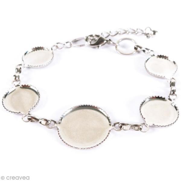Bracelet Rond à décorer - Argenté - 21,5 cm - Photo n°2