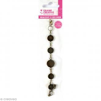 Bracelet Rond à décorer - Bronze - 21,5 cm
