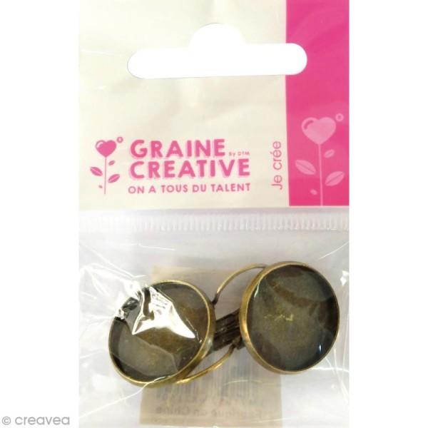 Boucle d'oreille Ronde à décorer - Bronze - 19,6 mm - Photo n°1
