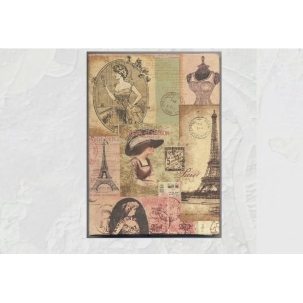 Cahier 100 pages A6 à décorer couverture rigide - Photo n°2