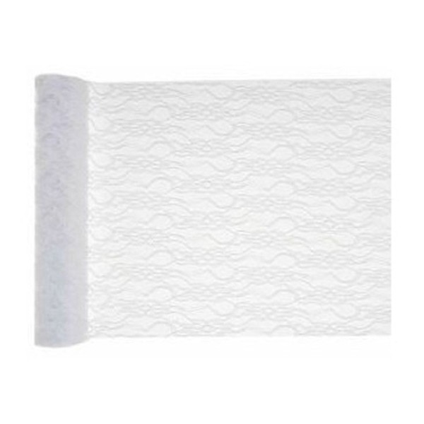 Chemin de table dentelle blanche : 5 mètres x 28 cm - Photo n°1