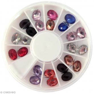 Cabochons Diamants - Ovale - 5 mm - 24 pcs