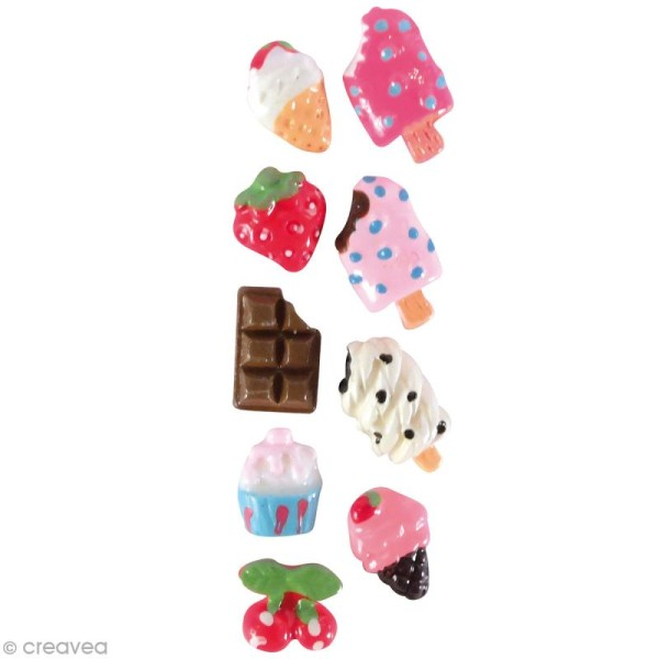 Miniatures gourmandes - Glace - 0,6 à 1 cm - 18 pcs - Photo n°1