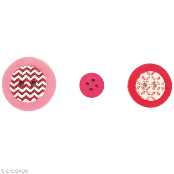 Mini moule silicone - Boutons géométriques - 1,4 - 2,5 et 3 cm - 3 formes - Photo n°2