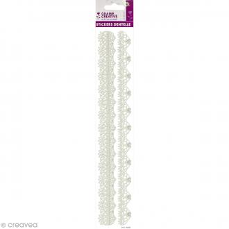 Stickers dentelle 3D - Arabesques - 29,4 cm de long