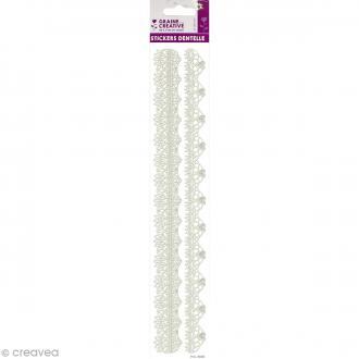 Stickers dentelle 3D - Arabesques - 29,4 cm de long