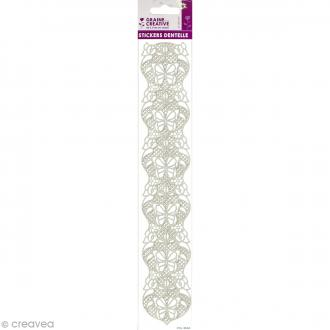 Stickers dentelle 3D - Papillons - 29,4 cm de long
