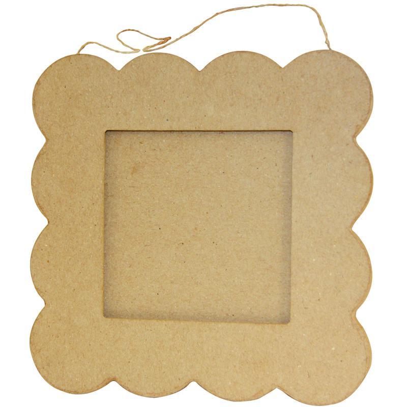 Cadre plat petit beurre en papier mâché 20 cm - Photo n°1