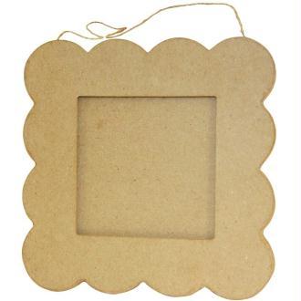 Cadre plat petit beurre en papier mâché 20 cm