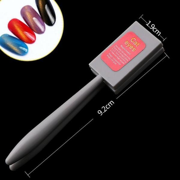 1pc Magie des Yeux de Chat Aimant Baguette Magnétique Gel Nail Art polonais Manucure Pédicure - Photo n°2