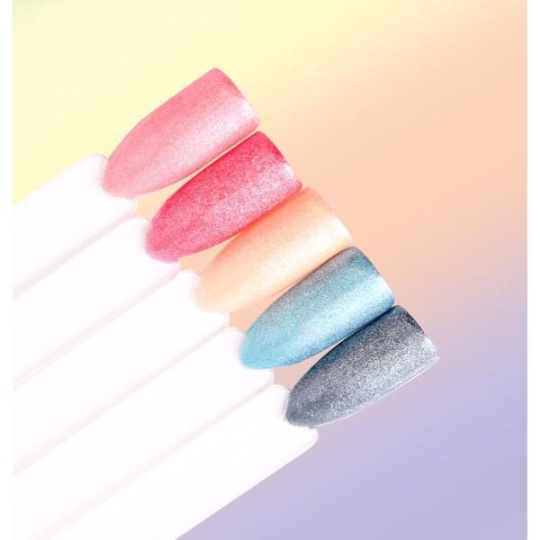 1 Jeu d'Argent de Perle Effet Brillant Glitter Powder Dust Acrylique 3d Nail Art Set Avec des Pincea - Photo n°3