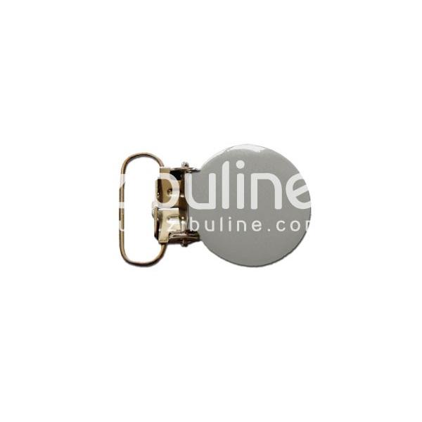 Pince métal ronde - Gris - Photo n°1