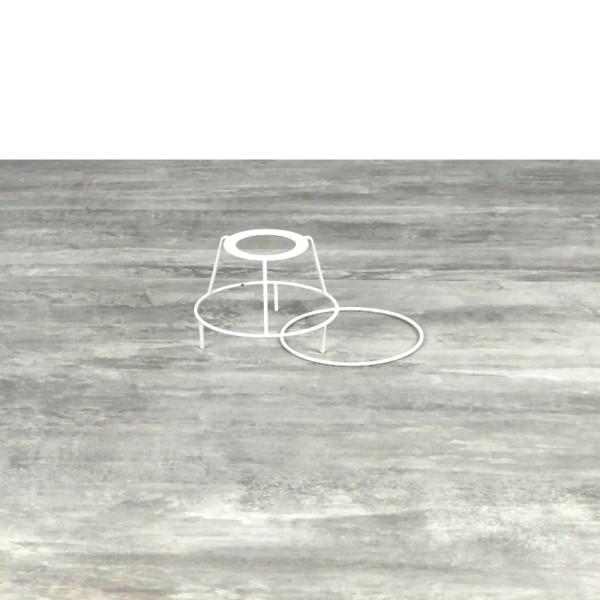 Petit Set d'Ossature avec pieds, Ø 10cm pour abat-jour, Tête ronde avec pieds et anneau en epoxy bla - Photo n°1