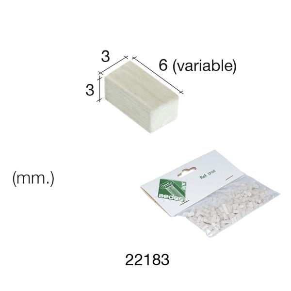 Pierre de mur marbrée 3 x 3 x 6 mm - 500 pièces Aedes - Photo n°1
