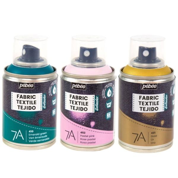 Peinture textile en bombe - 100 ml - Photo n°1