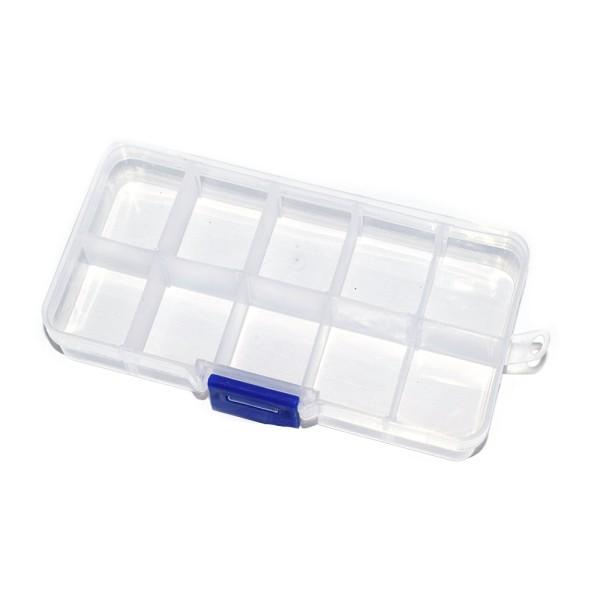 Boîte de rangement 10 cases 7x12 cm - Photo n°1