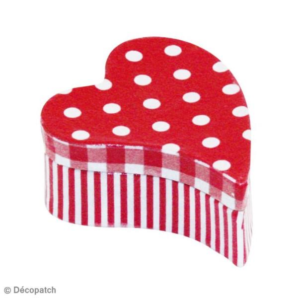 Lot de 2 boîtes coeur primitif en papier mâché 12 cm et 8 cm - Photo n°2