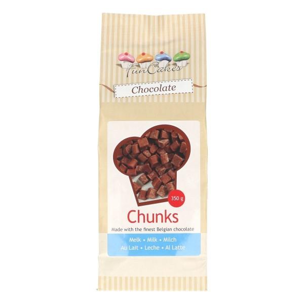 Chunks Morceaux de chocolat au lait 350 gr - Photo n°1