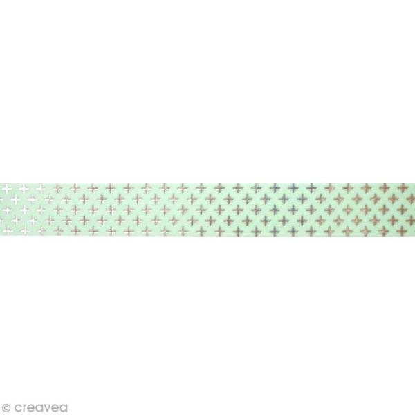 Masking tape métallisé - Croix - Argenté - 1,5 cm x 10 m - Photo n°2