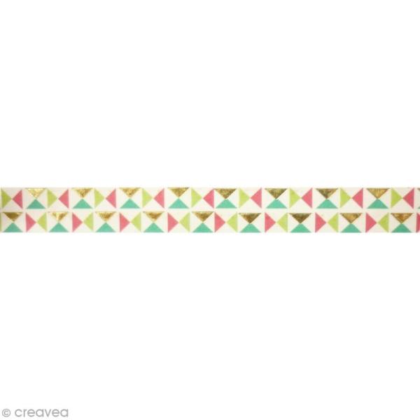 Masking tape métallisé - Origami - Doré - 1,5 cm x 10 m - Photo n°2