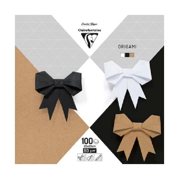 Feuilles de papier origami