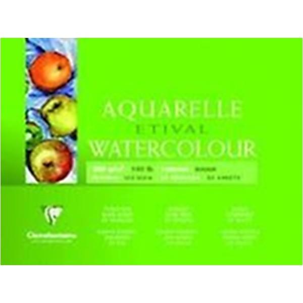 Clairefontaine 96570C Bloc de papier aquarelle Grain Fin 10 Feuilles Blanc - Photo n°2